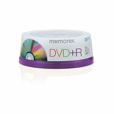 Memorex DVD+R 16X 4.7GB 25Pack 120Min Recordable Blank DVD Discs Spindle - 05618