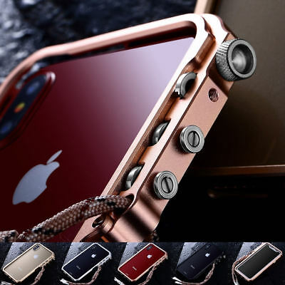 For iPhone X 8 6s 7 Plus Premium Aluminum Frame Metal Trigger Bumper Case Cover