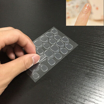 10Sheets Clear Double-side Sticker Transparent Fake Nail Tips Tool Adhesive Glue