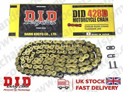 DID Gold Standard Roller Motorcycle Chain 428DGB Pitch 122 links w/ Split Link