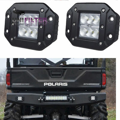 Flood Rear Black LED Head Light Fog Pod Polaris Sportsman 1000 850 570 RZR 800