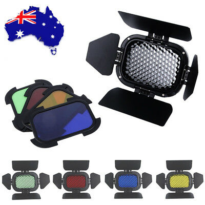 Godox BD-07 Barn Door And 4pcs Color Filters For AD200