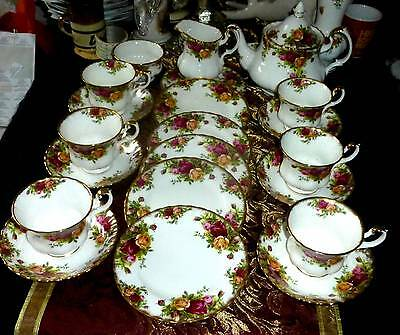 Teaset Country Roses By Royal Albert Stunning Pretty Set Lovely Gift- Stunning