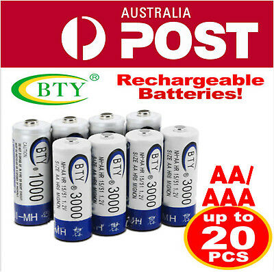 OZ 4-20X BTY AA / AAA Rechargeable Battery Recharge Batteries 1.2V Ni-MH