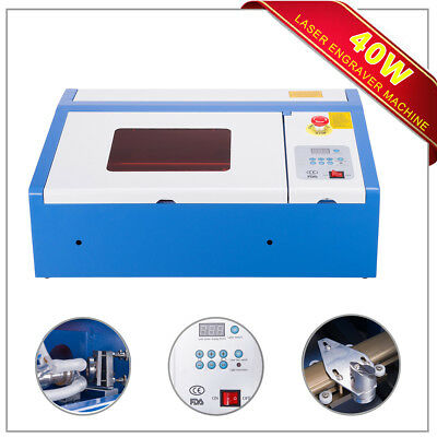 Upgraded 40W CO2 Laser Engraver Cutting Machine Crafts Cutter USB Interface !