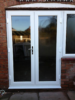 White uPVC French Doors - Made to Measure - Brand New - Ready to Fit