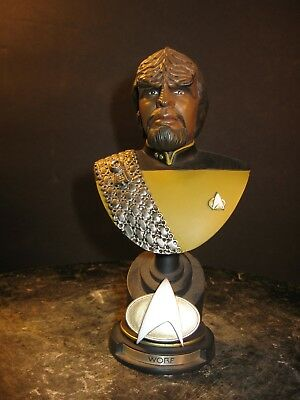 Star Trek The Next Generation Worf resin bust Sideshow Collectibles