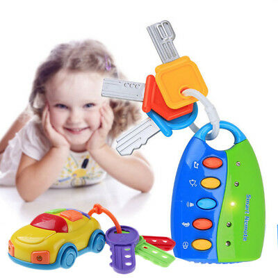 New Car Key Toy kids Musical Keys Baby's Sound and Light Pretend Toy Keychain