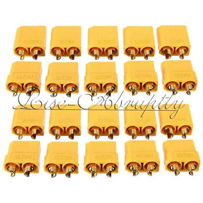 1/5/10 Pairs Female Male XT90 Banana Bullet Connector Plug For RC LiPo Battery