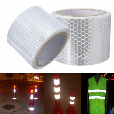 5cmx3m Safety Adhesive Reflective Tape Roll Sticker For Trailers Cars Bikes
