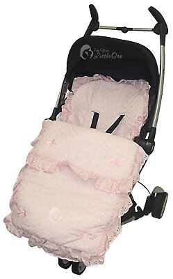 Broderie Anglaise Beautiful Filly Footmuff / Cosy Toes / Cosy Toes Pink