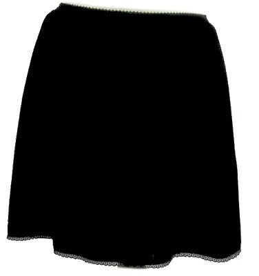 Half Slip 20 inch Length  Trimmed Hem  Anti Static Black or White