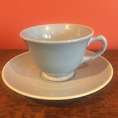 LuRay Pastels Blue Coffee Tea Cup and Saucer