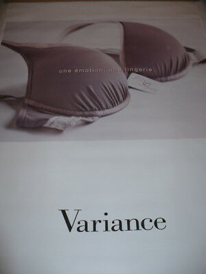 AFFICHE POSTER  GEANT  VARIANCE                    180x120  TBE  NON  PLIEE