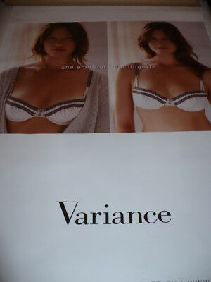 AFFICHE POSTER  GEANT  VARIANCE    2008                180x120   TBE  NON  PLIEE