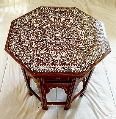 """Indian Octagonal Table ,occasional Table Solid Rosewood 18"""""""