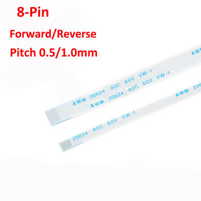 8-Pin 0.5mm 1mm FFC/FPC Flexible Flat Cable Ribbon Forward/Reverse Direction