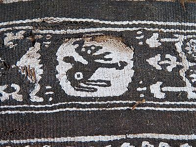 Ancient EGYPTIAN 5th to 6th century COPTIC linen TEXTILE 11 3/4 x 4""