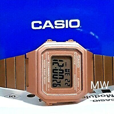 New Casio Vintage Rose Gold Digital Stainless Steel Watch B650WC-5A B650WC-5A