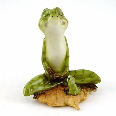 Yoga Frog in Meditation Lotus Pose Miniature (4397) NEW 3 Inches