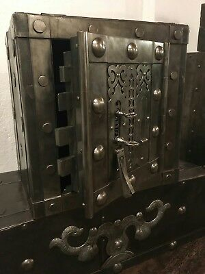 1790 /1820 Antique Italian safe , strongbox , key