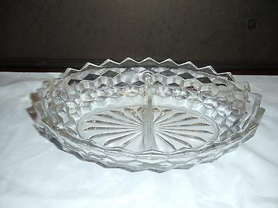 """Fostoria American #2056 Clear 10"""" Oval Vegetable Bowl"""