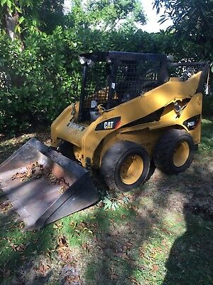 2008 Caterpillar 242B Multi Terrain Skid Loader Cat with bucket and NEW grapple