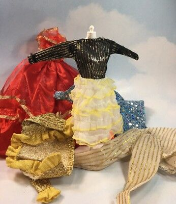 Doll Clothing: lot of TLC Unlabeled Dresses Gowns