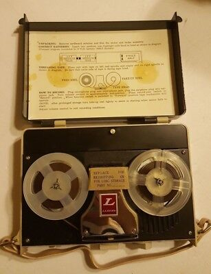 Vintage LLOYD'S Portable Tape Reel to Reel Recorder and Player