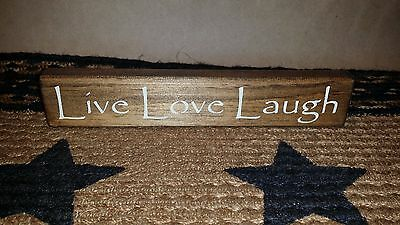 """Live Love Laugh Stained Sign, 8"""", Handmade in USA, Wood, LLL, Shelf Sitter"""
