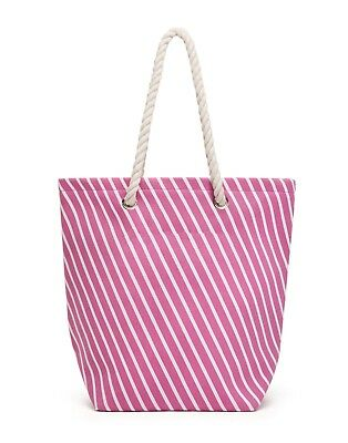 Tote Bag Striped Cabana Style