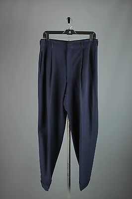 Vtg Men's 50s Wool Drop Loop Dress Pants sz 31x30 1950s Pleated Slacks #2762