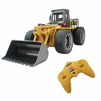 RC Tractor Remote Control Front Loader Bulldozer Truck 6CH Toy Car Alloy Vehicle