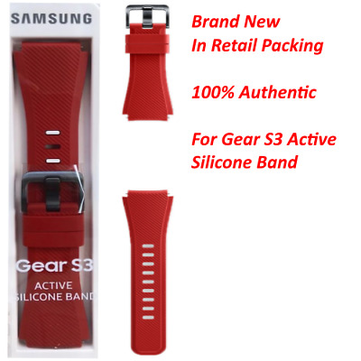 New Samsung Gear S3 Silicone Replacement Band Red ET-YSU76MREGUS
