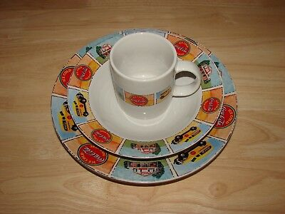 Set of Plates and Mug Coca-Cola® Brand Dinnerware Gibson® Dishwasher Safe CHINA