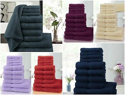 Luxury 8pcs Boston 100% Cotton Towel Bale Sets Extra Soft and Absorbent 500 GSM
