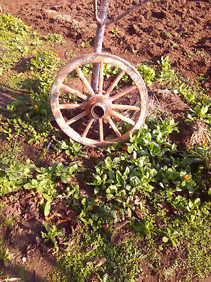 ANTIQUE AUTHENTIC WOODEN  WAGON WHEEL  ,19th century,Eastern Europe