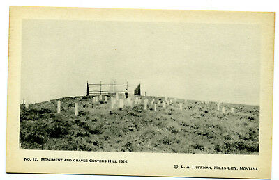 """L A Huffman - 1916 Custer Trail Expedition No. 12 """"Custer Hill 1916"""" Unposted WB"""
