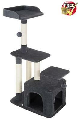Cat Tree House for Large Cats Tower Pet Condo with Scratching Post Dark Gray
