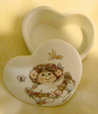 Dreamsicles Small Heart Shaped Trinket Box Limited Edition 1995