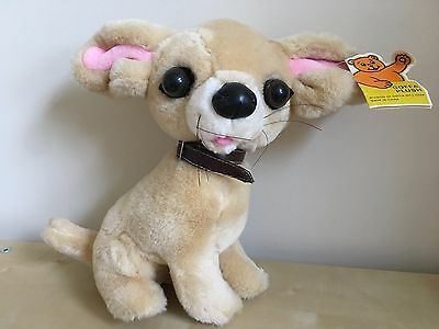 "Goffa International Beige Tan Chihuahua Dog Plush New With Tags 10"" Big Ears"