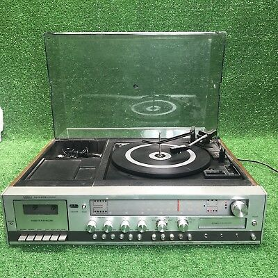 Vintage Sears AM/FM Radio Stereo Turn Table 8-Track And Cassette 132.91961900