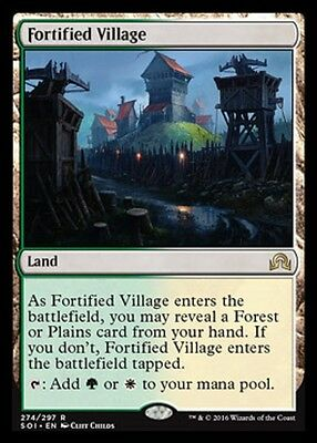 MTG: Fortified Village - Rare Land - Shadows over Innistrad - SOI - Magic Card