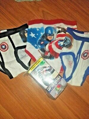 Fruit of the Loom Boy Brief Captain America (sizes 4 and 6 only)