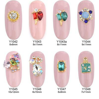 10pcs New 3d nail art decorations rhinestones alloy nail charms