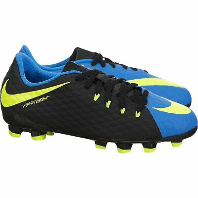 Kids' Nike Jr. Hypervenom Phelon III (FG) Firm-Ground Football Shoes