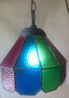 Vintage TIFFANY Style Hanging Ceiling Chandelier Nautical Lamp, Hand Made