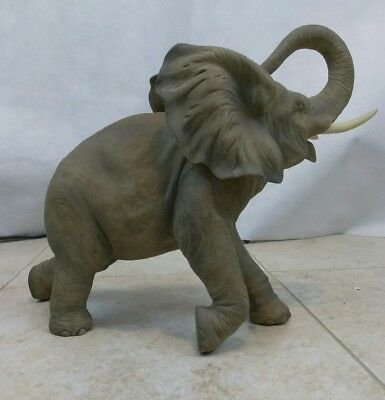Elephant Figurine Andrea by Sadek Porcelain Trunk Up #7837