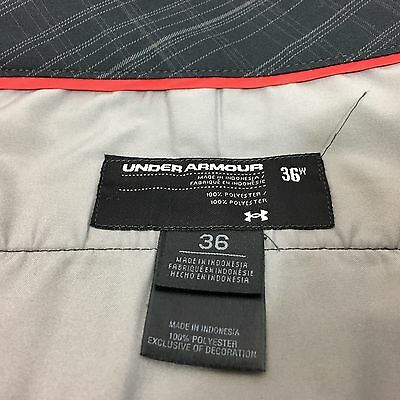 Under Armour Mens Golf Shorts 36 Flat Front Black Plaid Casual