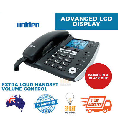 Corded Phone Landline Home Business Desk Telephone Uniden Handsfree Large Button